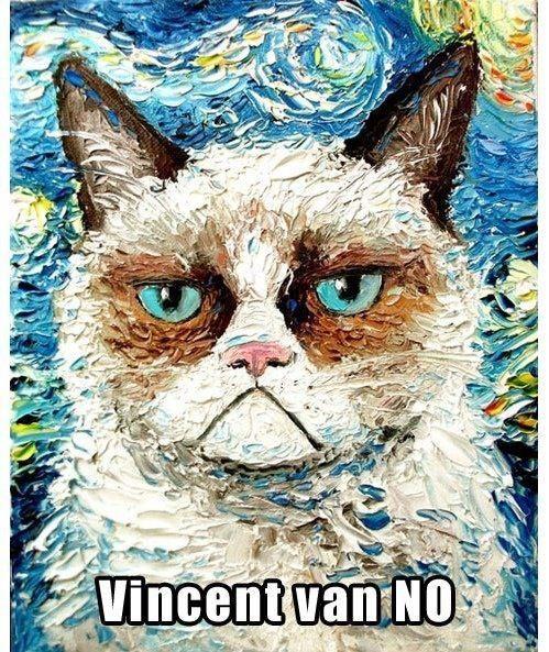 Grumpy cat love. Or is it hate?