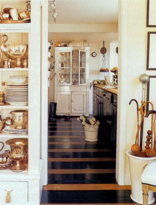 Painted floor - Design Chic: Fisherman's Cottage