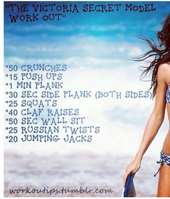 The victoria secret model workout