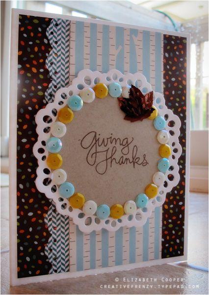 Handmade Card: Giving Thanks