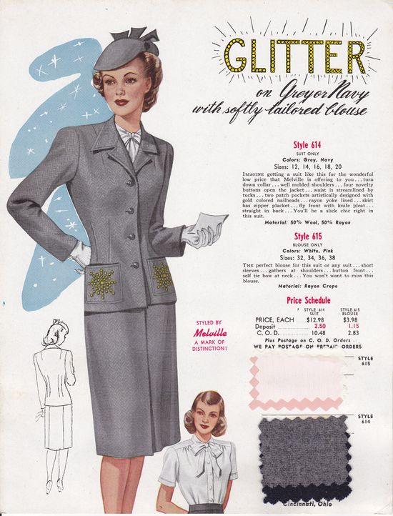 Who doesn't love a little glitter in their wardrobe? #vintage #1940s #fashion #fabric
