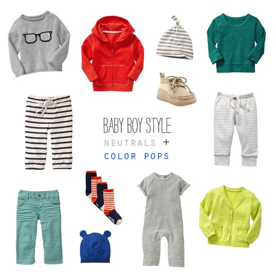 Baby Boy Style: Neutrals + Color Pops