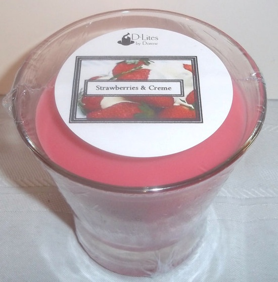 Strawberries & Creme 12 oz candle  June by DLitesbyDorene on Etsy, $6.75