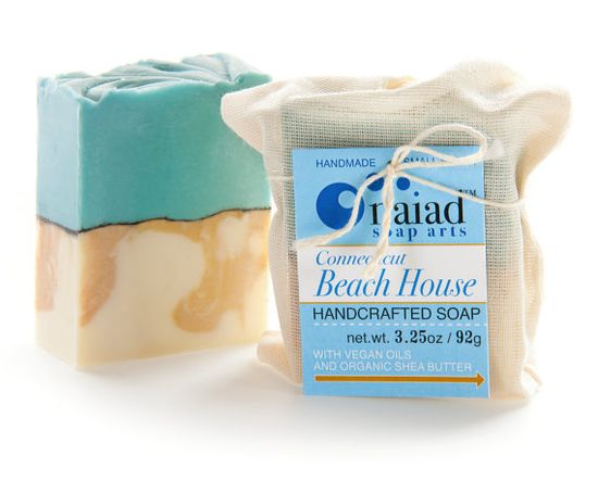 Connecticut Beach House Artisan Soap - Handmade Soap, Scented Soap, Vegan Soap, Clay Soap. $5.75, via Etsy.
