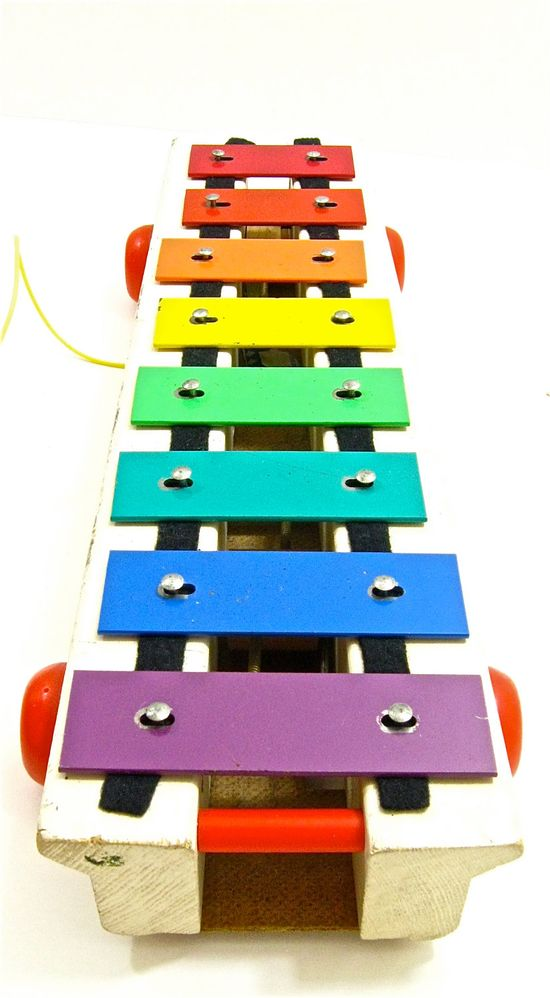1970s Fisher Price Xylophone Pull Along Toy