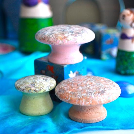 Kids Wooden Toy, Sea Coral Set - Mermaid Tales / Waldorf Toys. The Enchanted Cupboard, via Etsy.