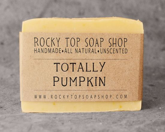 Pumpkin Soap -  Handmade Soap, Cold Process Soap, Vegan Soap, Unscented Soap, Pumpkin Soap.