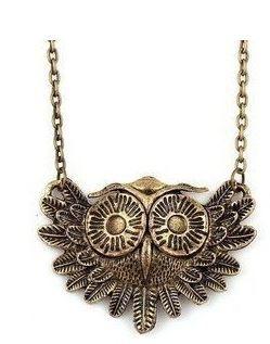 Vintage style Owl necklace just 60¢ shipped!