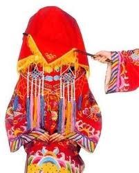 """Vietnamese girl in traditional wedding """"ao dai"""""""