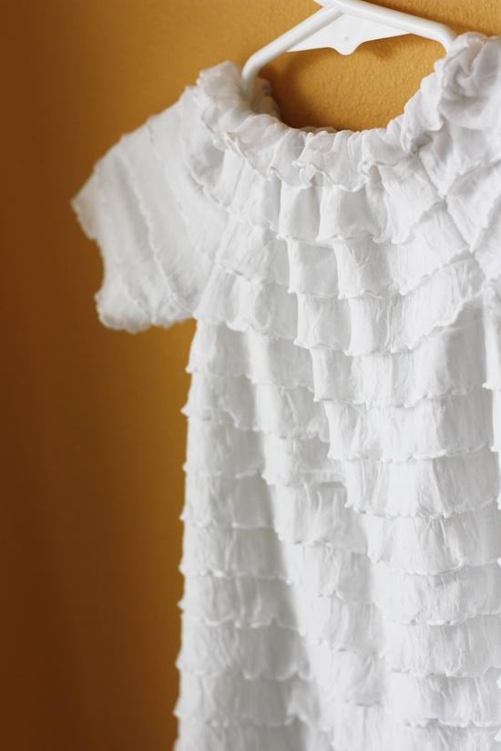 Ruffle Fabric Peasant Dress