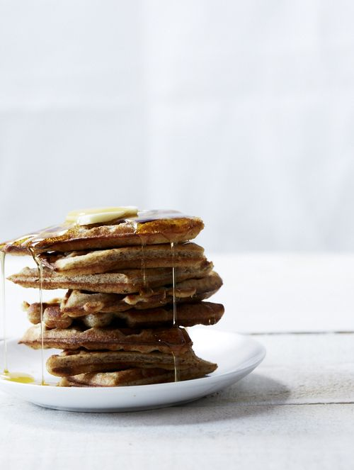 almond waffles, food & wine