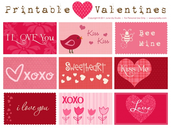 Free Valentine's Day Printables, or recreate-able on storybook creator