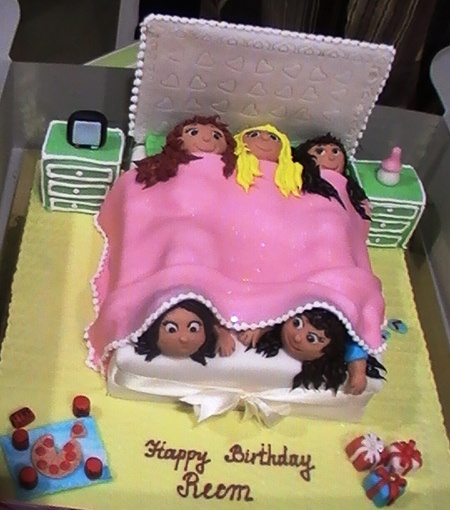 Girl's sleepover party cake