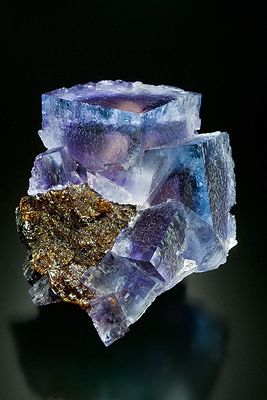 Fluorite on Sphalerite.    Minerva No.1 Mine,    Cave-in-Rock, Hardin County, Illinois