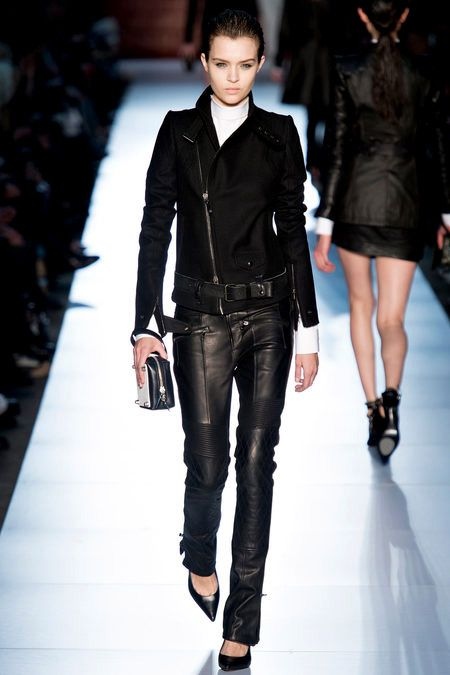 Black Leather Pants in Punk Style Fashion Trend for Fall Winter 2013 I Diesel Black Gold  #fall2013 #aw2013 #punk #trend #black #leather #trendy #pants #trends