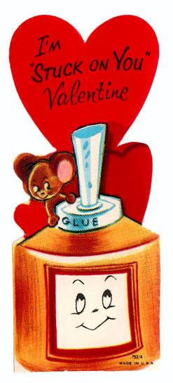 Vintage Valentine: Stuck on you by pageofbats, via Flickr