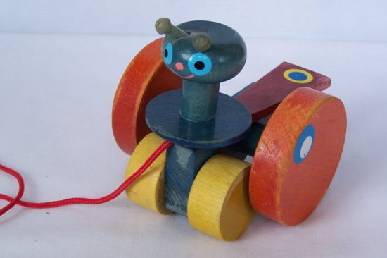 Vintage Wooden Pull Toy