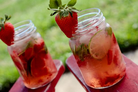 strawberry-lime mojitos.