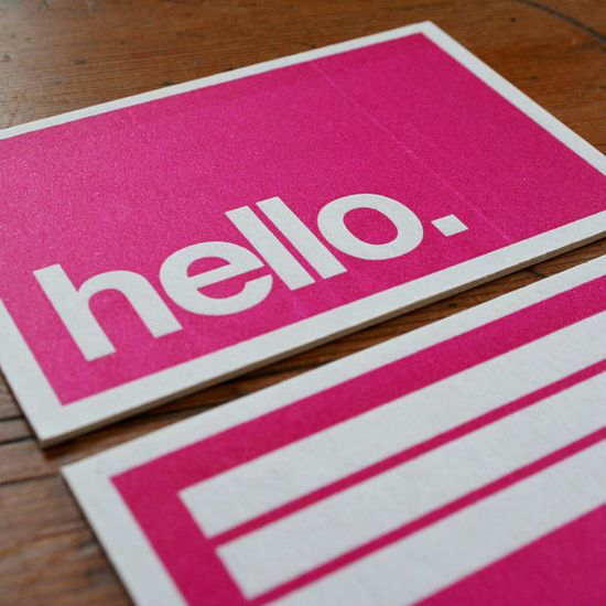 Hello #business #cards