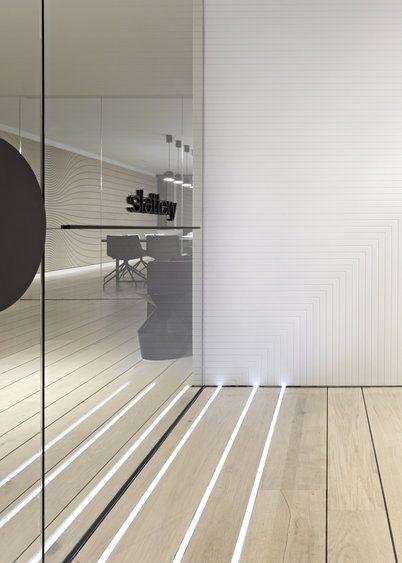 Integrated floor lighting - Slattery Australia by Elenberg Fraser . Australian Interior Design Awards 2013 workplace winner