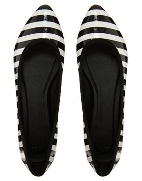 Striped Flats #shoes