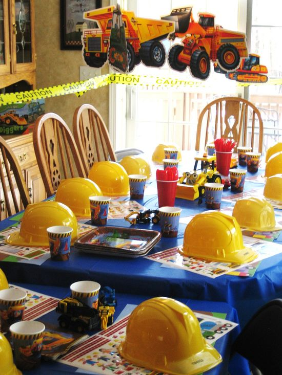 Construction Theme Party hats to go with the dump trucks :) @Amee Wayton