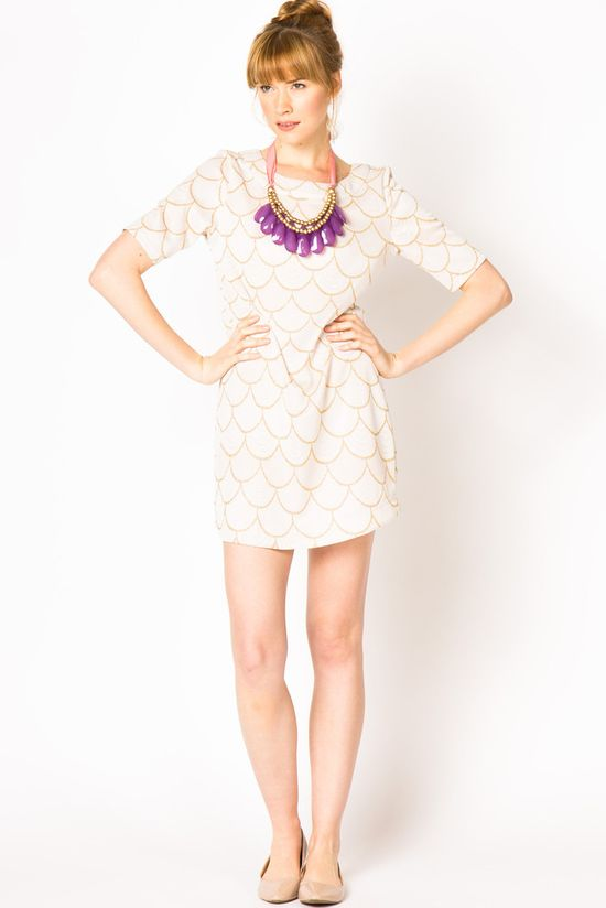 Scallop Knit Dress