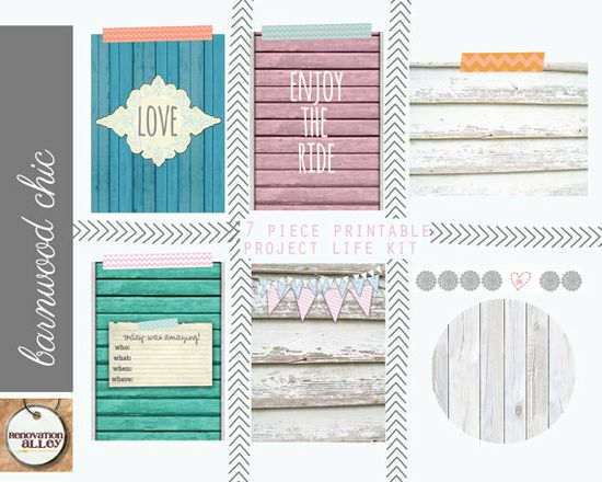 Project Life Inspired Cards 3x4 Country Cottage by RenovationAlley, $3.00