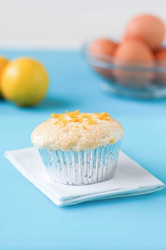 Lemon Angel Food Cake Cupcakes