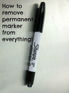 How to remove permanent marker from everything!