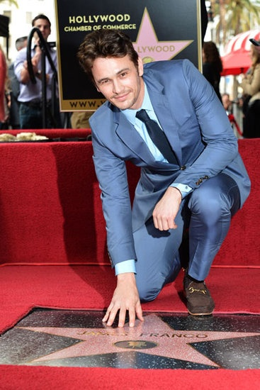 James Franco received his star on the Hollywood Walk of Fame March 7, 2013.