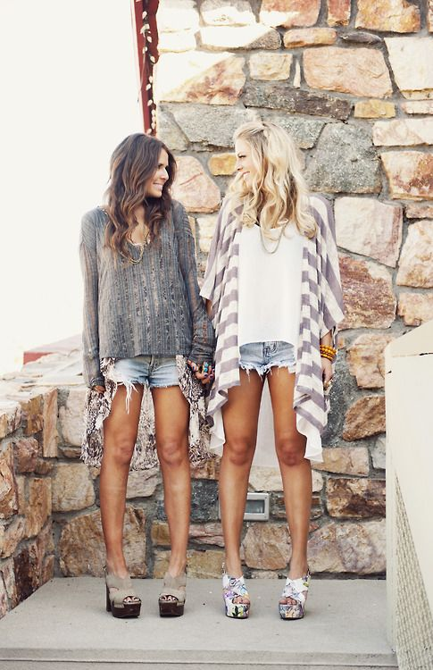 sweaters + shorts