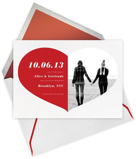 #same-sex wedding #stationery by @Marilyn Rose Post! #lesbian #wedding