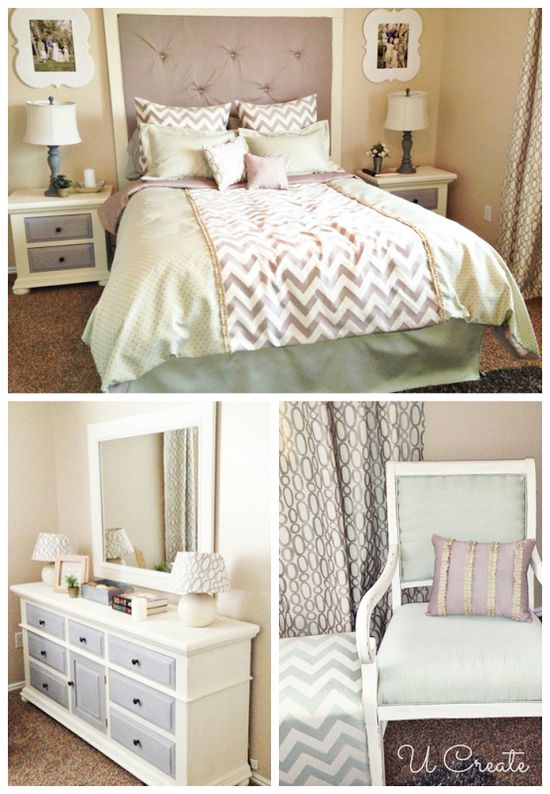 Gorgeous bedroom makeover from @U Create