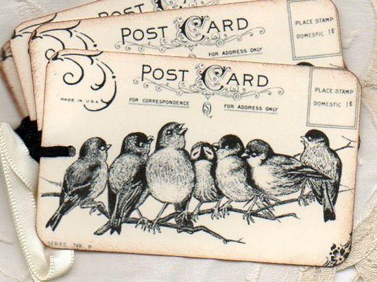 vintage look gift tags