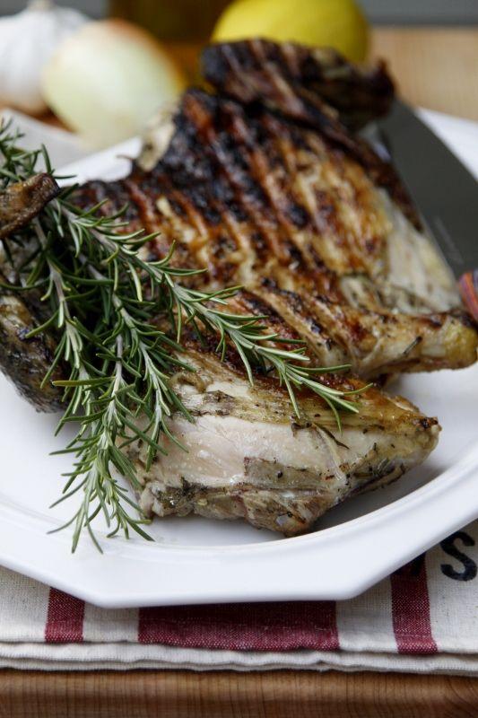 How to Grill Chicken Under a Brick  #chicken #grilling