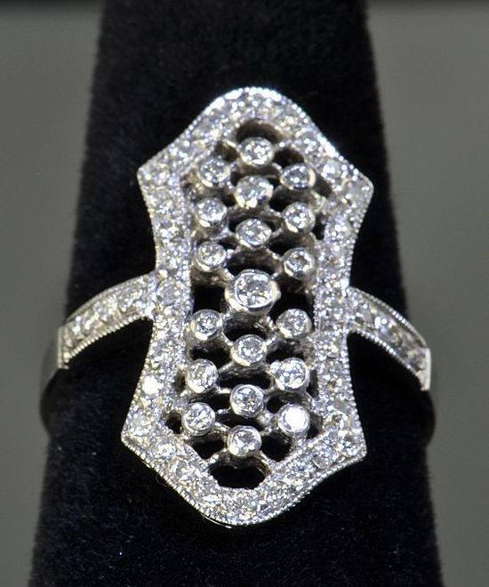 Diamond and Platinum Vintage Ring  $995