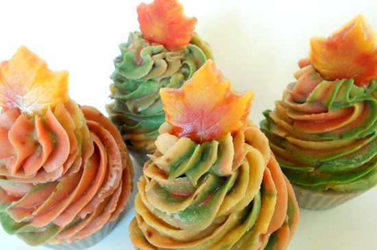 Autumn Magic Hand-Crafted Cold Process Shea Butter Soap Cupcake. $6.50, via Etsy.