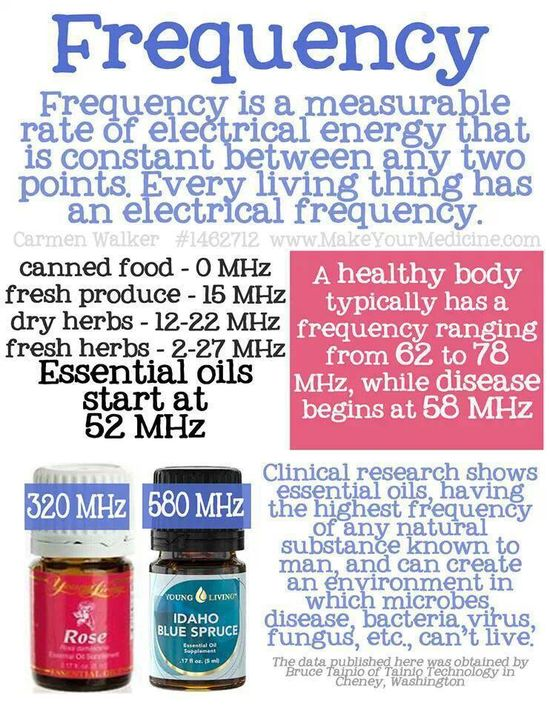 Young Living Essential Oils Frequency