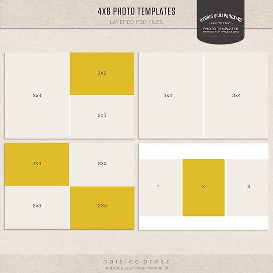 Paislee Press 4x6 Layered Templates