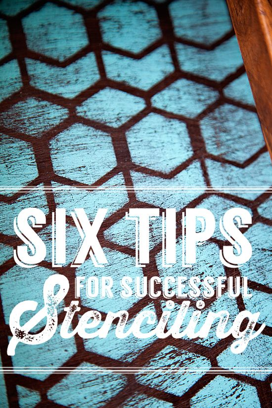 Whipperberry: 6 Tips for Painting with Stencils
