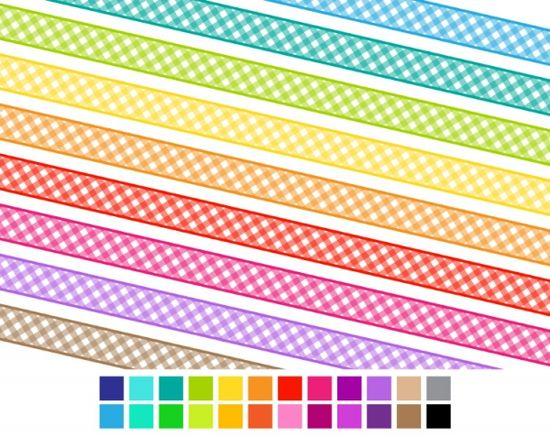 Gingham Digital Ribbon - Luvly Marketplace