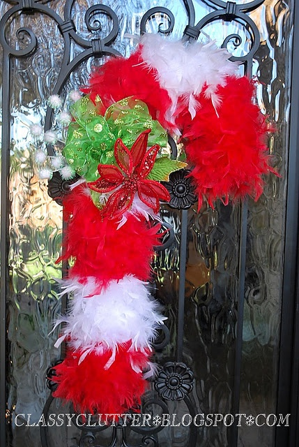 Feather Boa Candy Cane