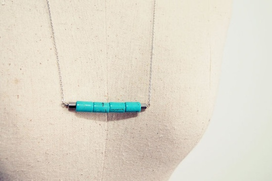 turquoise in a row necklace