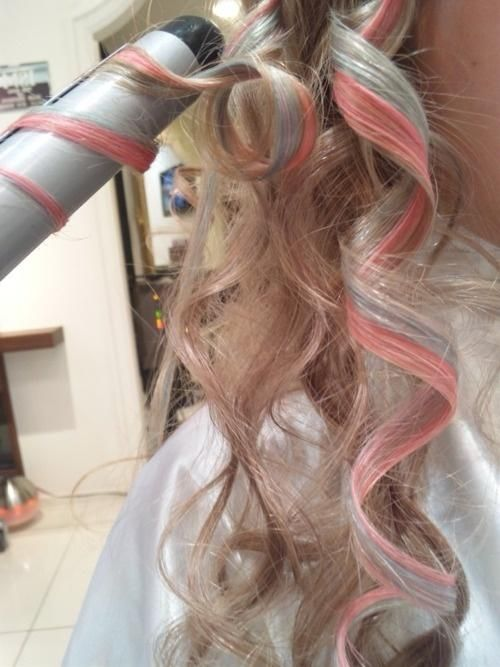 pastel curls