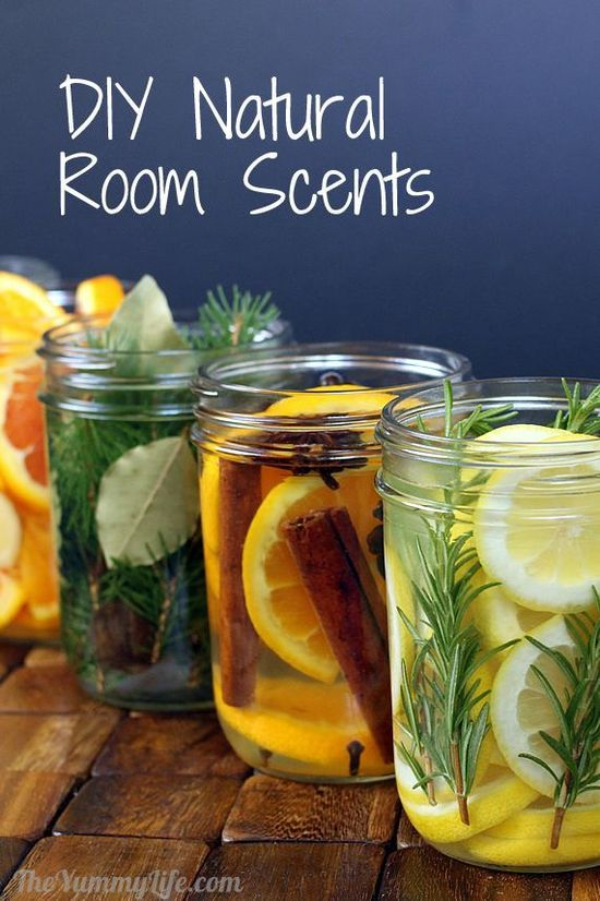DIY Natural Room Scents - Love love love this idea!  At home, I often toss lavender buds in a pot of water and it's amazing.  These blends smell to-die-for!