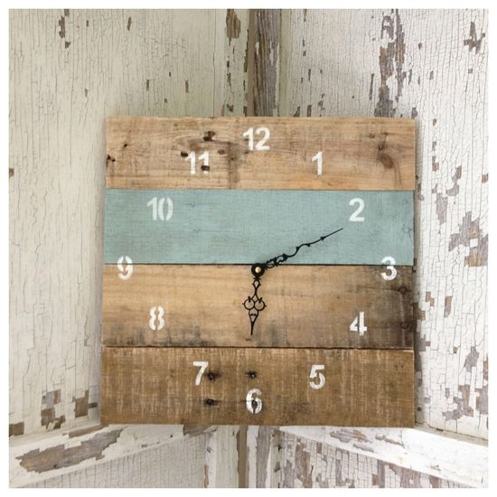 Reclaimed Pallet Wood Wall Clock (Your Color Choice). $35.00, via Etsy.