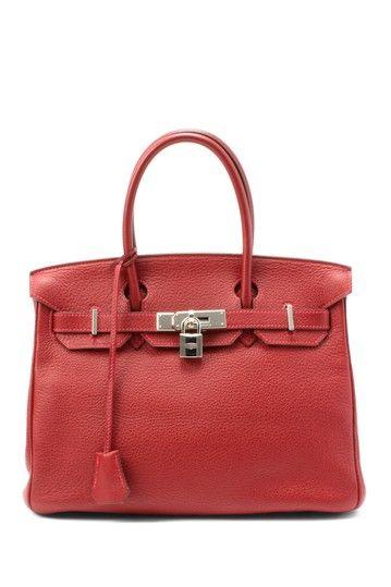 Vintage Hermes Leather Birkin 30 Stamp Handbag