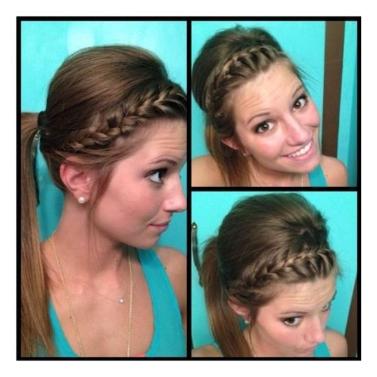 Headband braid how-to Hairstyles and Beauty Tips found on Polyvore