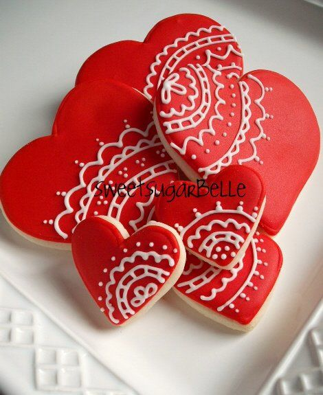 Love these cookies! Valentine's Day treats